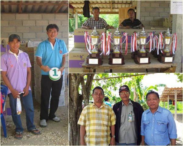 Ketua panitia konkurs Koh Soon; Trophy exclusive; bersama Chigumad MLT dan pejabat pemerintah Krabi